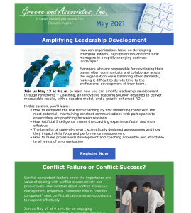 Greene and Associates Inc. May 2021 Newsletter